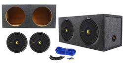 """2) Kicker 44CWCD124 CompC 12"""" 1200W Car Subwoofers+Sealed"""