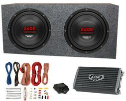 """2) Boss CH12DVC 12"""" 3600W Car Subwoofers Subs+Sealed Box Enc"""