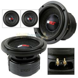 """2 DS18 Elite Z6 6.5"""" Subwoofer Dual 4 Ohm 600 Watts Max Bass"""