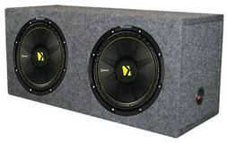 """2) New Kicker 44CWCS124 12"""" 1200W Car Subwoofers + Dual Seal"""