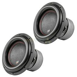 "2 Pack 12"" Subwoofers Dual 2 Ohm 1100 Watts RMS Car Audiopip"