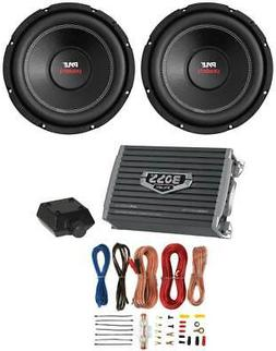 """2) PYLE PLPW12D 12"""" 3200W Car Subwoofers Stereo Woofer+ 2 Ch"""