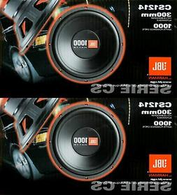 "2x JBL CS1214 12"" 2000W Car Subwoofers Power Subs Audio Woof"