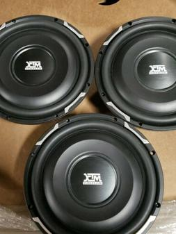 "3- MTX AUDIO 10"" SUBWOOFERS 200 RMS EACH .35 OHM SHALLOW MOU"