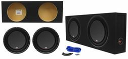 """MTX 3510-04S 10"""" 1200w Shallow Car Subwoofers+Sealed Slim S"""