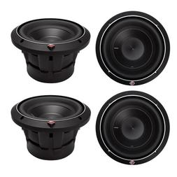 "4) ROCKFORD FOSGATE P2D4-8 8"" Punch P2 2000W 4-Ohm Car Audio"