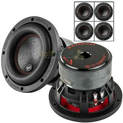 "4 Pack Audiopipe 6.5"" Subwoofers Dual 4Ω 500 Watts Max Car"