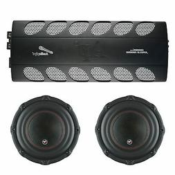 Audiopipe Car Audio Package w/ 1800W Class D Mono Amp and 2