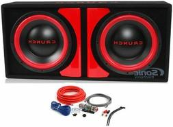 """Crunch CR-212A 1000w Dual 12"""" Powered Loaded Subwoofers In E"""