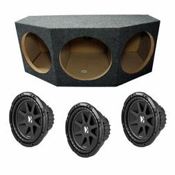 "Kicker Loaded Triple 12"" Subwoofer Enclosure Box W/ C12 150W"