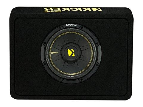 Kicker 10-Inch CompC 2-Ohm Loaded Shallow Subwoofer Box Encl