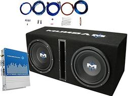 """MTX MB210SP Dual 10"""" 400 Watts RMS Loaded Subwoofer Enclosur"""