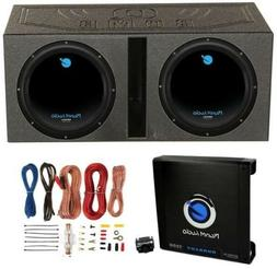 Planet Audio 12-Inch 1800W Subwoofers With Vented Lined Box