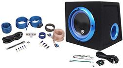 """Rockville RVB8.1A 8"""" 300W Powered Amplified Car Subwoofer Sy"""