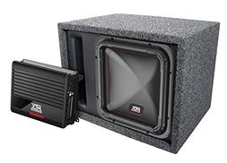 """MTX Single 12"""" Square Subwoofer, Amplifier, and Enclosure Pa"""